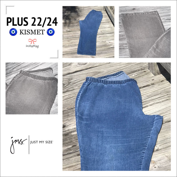 JUST MY SIZE Women's Plus Size 22/24W Elastic Stretch Jeans