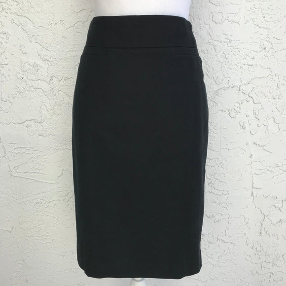 Ann Taylor Loft Black Dress Pencil Skirt , Size 8