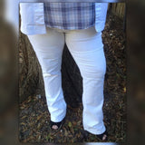 NY & C Plus Size Slim Boot White Jeans, Size 2X/18