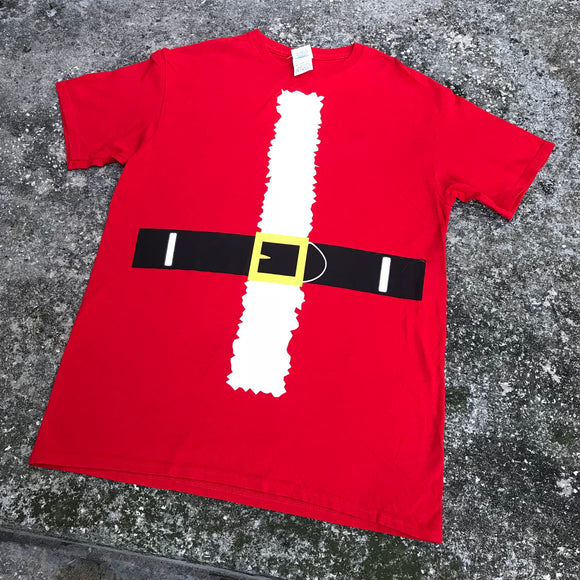 DELTA PRO WEIGHT Christmas Holiday Santa T-Shirt, Size Medium