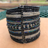 Artisan Crafted Boho Chic Beaded Cuff Bracelet