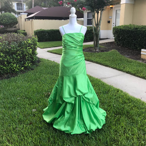 IMPRESSIONS Green Formal Bridal Prom Dress Gown, Size 10