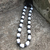 Black & White Chunky Beaded Necklace