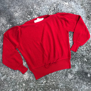 THE KNIT GROUP BY E. EYSEN Women's Vintage Red Sweater, Size 10
