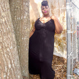 Fun Fas Soft Black Maxi Dress, Size 2X 18/20