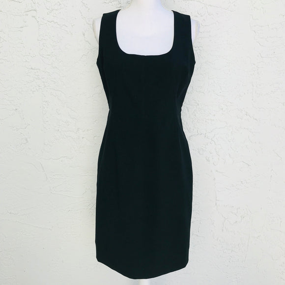 New York & Company Black Fitted Sheath Dress, Size 10
