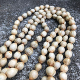 "Artisan Crafted in Hawaii Kukui Nut Bead Lariat 60"" Necklace"
