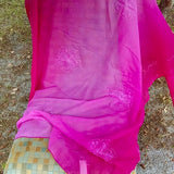 "The Beachcombers International Large Hot Pink Floral Embroidered Coverup Scarf Shawl 72"" x 43"""