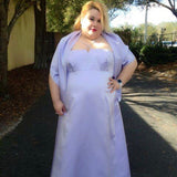 David's Bridal Plus Size Beaded Lavender Formal Prom Gown With Shawl, Size 3X/22