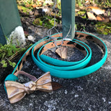 Betsey Johnson Gold Ribbon Teal Belt