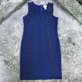CARMEN MARC VALVO Women's Navy Blue Bodycon Dress, Size Medium