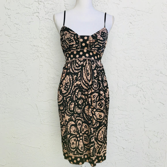 ECI New York Silk Spaghetti Strap Empire Dress, Size 10