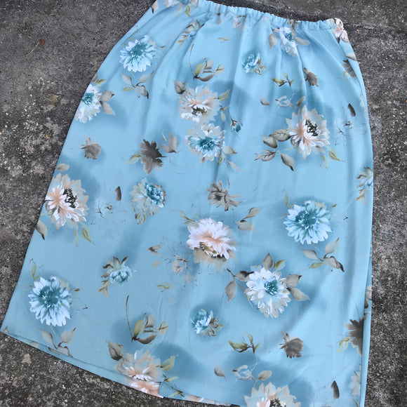 ALFRED DUNNER Women's Plus Size 22W Blue Floral Maxi Skirt