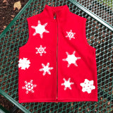 LISA INTERNATIONAL WOMEN'S Holiday Christmas 100% Boiled Wool Vest, Size S