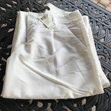 Arden B. Women's New White Pleat Front Wide Leg Lined Pants, Size 2