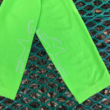 Women's Lime Green Dancing Ballerina Leggings Tights, One Size