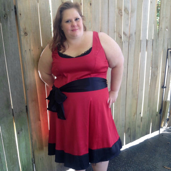 Torrid Plus Size Red Satin Dress, Size 4X / 26