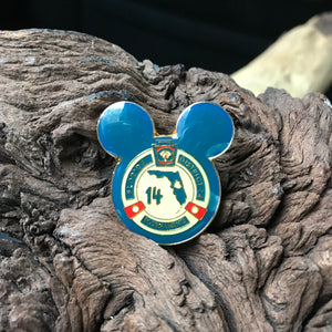Vintage Disney Florida District 14 Tournament Mickey Gold Tone Lapel Pin
