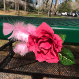 Artisan Crafted Rose Flower Hair or Scarf Clip