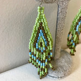 Artisan Intricately Designed Boho Chic Beaded Drop Earrings