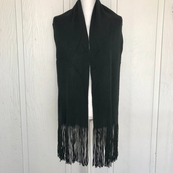 "Unisex Super Soft Feel Large Black Scarf, 11"" x 66"""