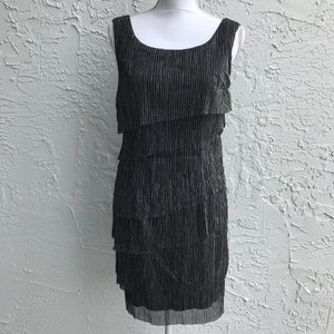 Connected Petite Soft Black Party Cocktail Dress, Size 10P