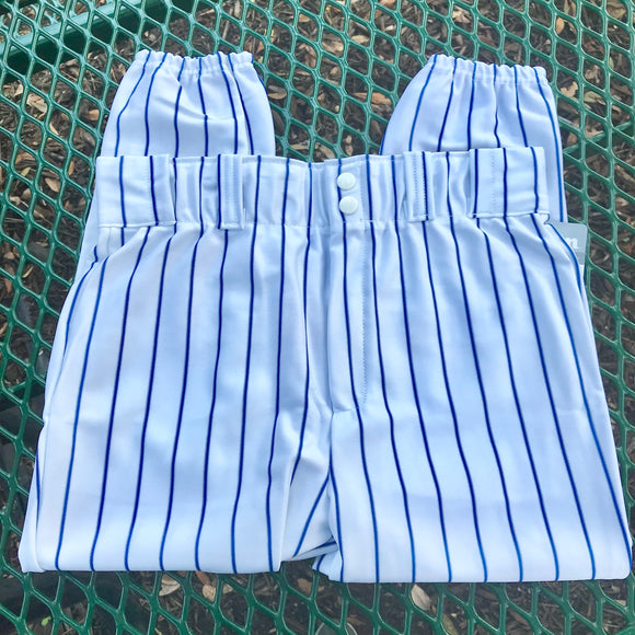 Copy of AUGUSTA SPORTS WEAR NEW Youth White & Blue Striped Baseball Pants, Size XS