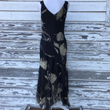JONATHAN MARTIN STUDIO Women's Plus Size 16 Asymmetrical 100% Silk Floral Maxi Dress
