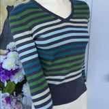 Ann Taylor Loft Striped Knit Sweater Top, Size Small Petites