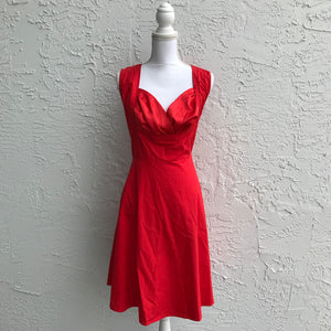 iHot Red Red Midi Dress, Size XL