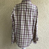 Wallin & Bros Men's Plaid Button Down Dress Shirt, Size XL