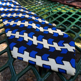 "Christian Dior Retro All Silk, Blue, Black & White, Men's Vintage 4"" Neck Tie"