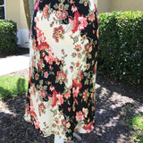 Women's Gorgeous Floral Satin Feel Dress, Size 2