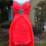 MAC DUGGAL Women's NEW Neon Coral Formal Prom Dress Pageant Gown, Size 14
