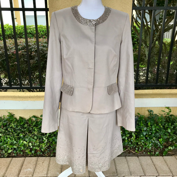 CONTEXT Women's 2 Pc. Dress Formal Skirt Suit, Jacket Size 12, Skirt Size 10