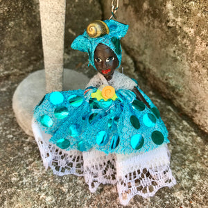 "Artisan Handcrafted Traditional African Doll 3"" Keychain"