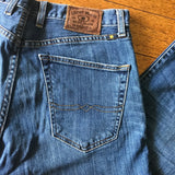 Lucky Brand 221 Original Straight Men's Blue Jeans, Size 32 x 32