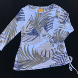 RUBY RD Women's Tropical Print Stretch Blouse Size S Petites