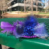 "5"" Gorgeous Sequined Stylish Feather Hair Fascinator"