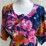 Cable & Gauge Cotton Mix Floral Blouse, Size Small