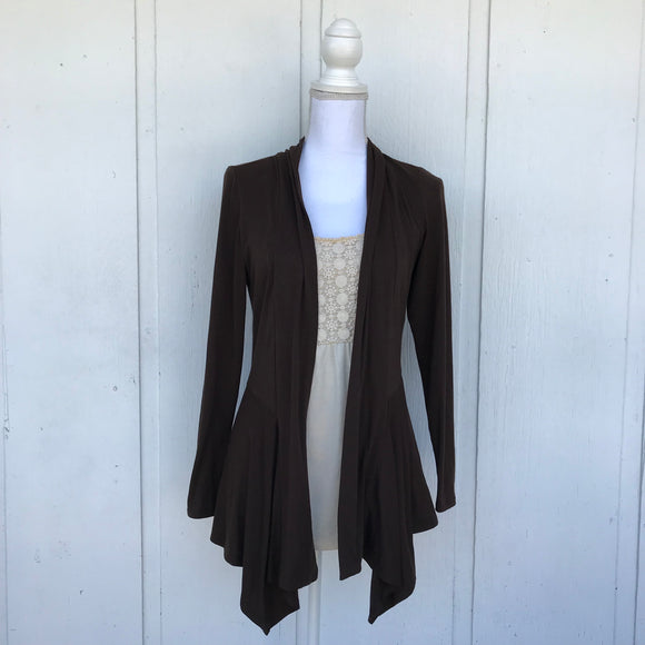 Alyx Brown Peplum Blouse, Size Small