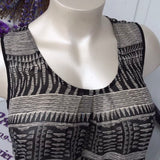 Women's Collective Concepts Black & White Blouse, Plus Size 1X