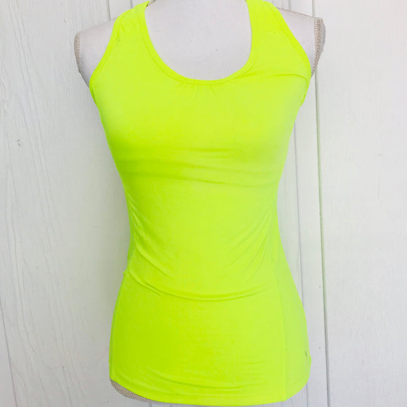 Danskin Now Neon Yellow Athletic Top, Size XS (0-2)