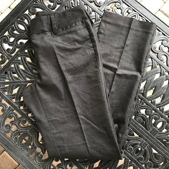 New York & Company Stretch Women's Cotton Blend Black Dress Pants, Size 2