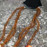 Artisan Crafted Beaded Bright Orange Princess Necklace