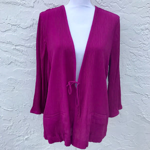 Jaclyn Smith Pink Coverup, Size 1X/XL