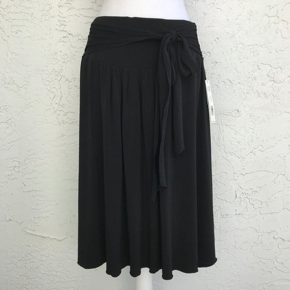 Apt 9 Black Misses Tie A-Line Skirt, Size Medium