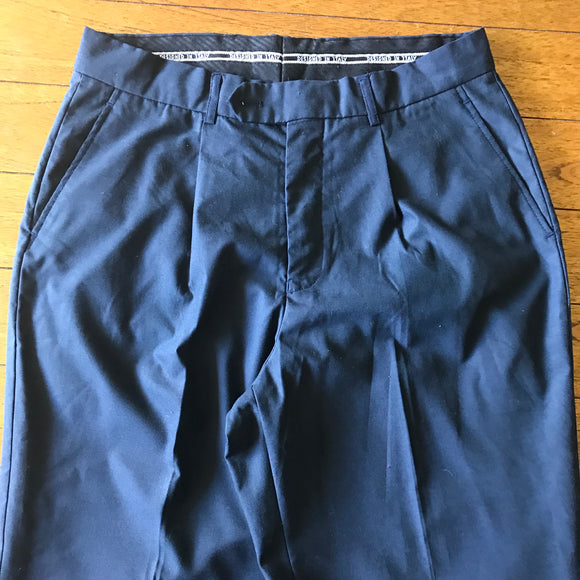 Designed in Italy Men's Navy Blue Dress Uniform Pants, Size 32R