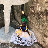 "Artisan Handcrafted African Doll 3"" Keychain"
