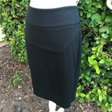 MOSSIMO Women's Black Career Midi Skirt, Size Large